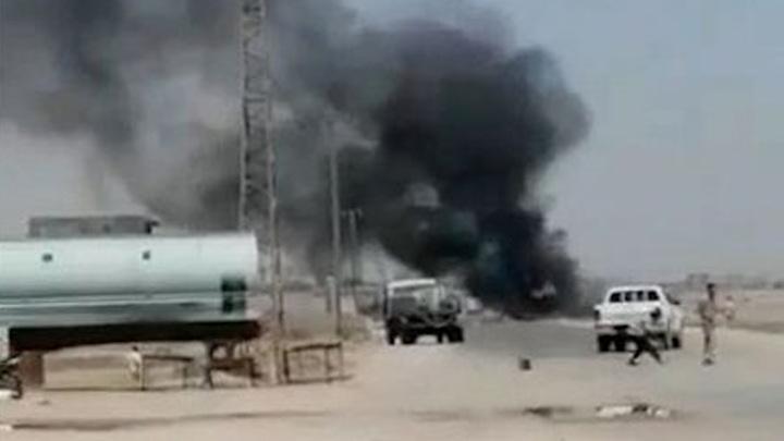 Американский беспилотник обстрелял сирийский грузовик с продовольствием