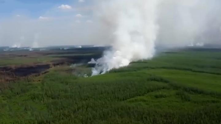 В части Хабаровского края введен режим ЧС из-за сложного природного пожара