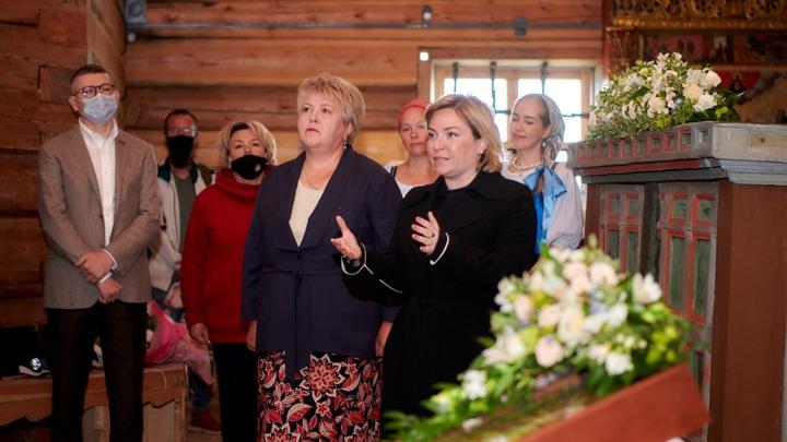 Ольга Любимова торжественно открыла Преображенскую церковь в Кижах