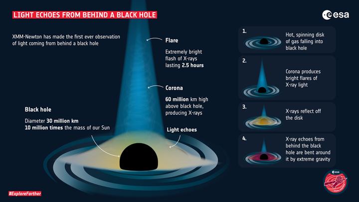 Световое эхо от черной дыры.