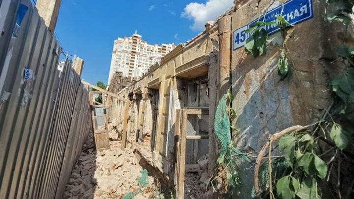 В Воронеже начали разрушать проданный под реконструкцию дом агронома Вагнера