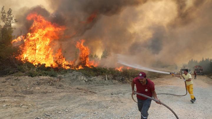 От турецких пожаров пострадали более 400 человек