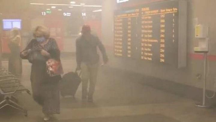 Пожар вспыхнул в здании Киевского вокзала