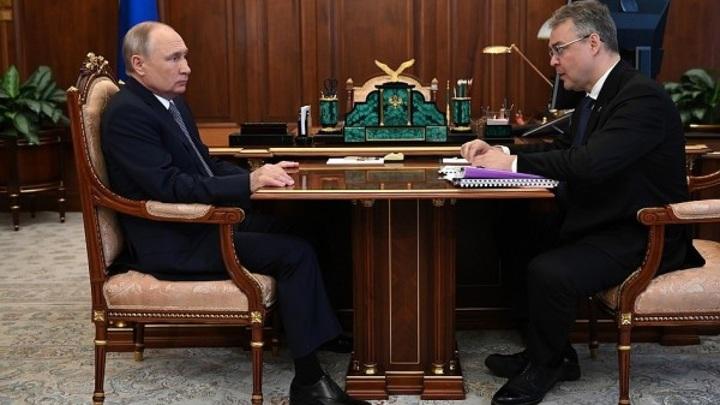 Путин в Кремле принял главу Ставропольского края