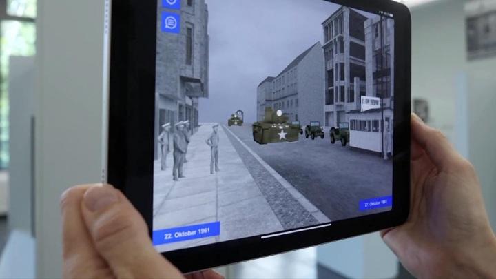 В Германии выпустили мобильное приложение, моделирующее Берлинскую стену и ее окрестности