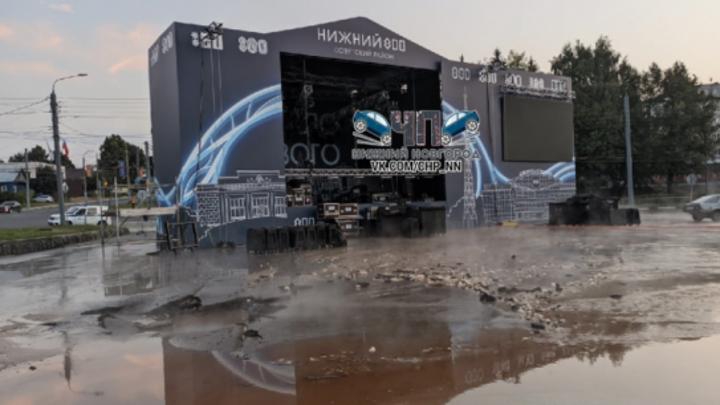 В Нижнем Новгороде затопило площадку для празднования 800-летия города