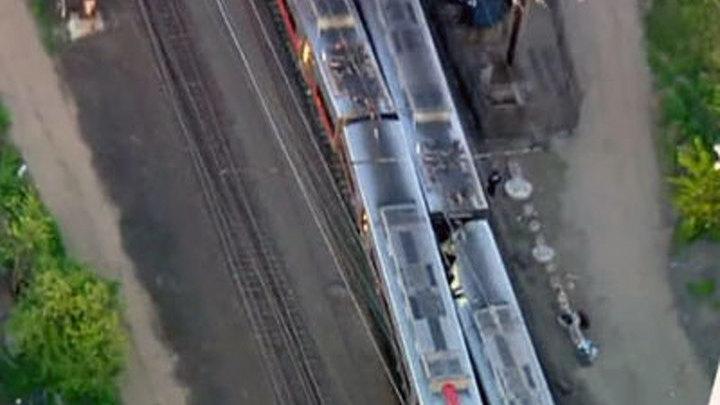 В США при столкновении двух поездов пострадали почти 50 человек