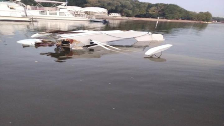 Самолет, упавший в Волгу под Саратовом, мог быть самоделкой