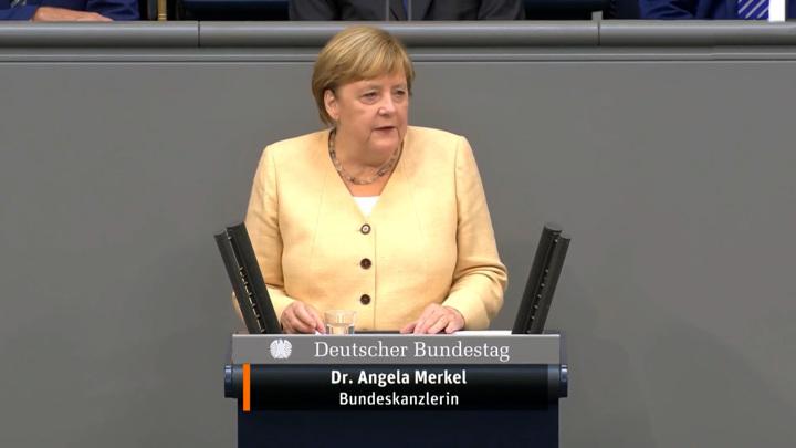 Слушать выступление Меркель в бундестаге захотели не все