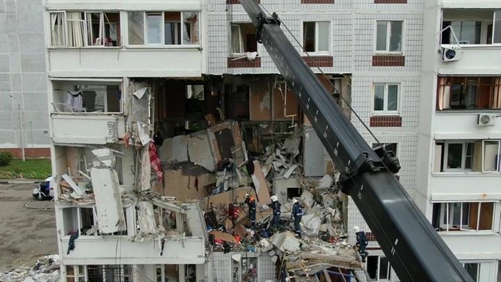 На месте взрыва газа в жилом доме в Ногинске закончены все поисковые работы