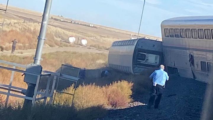 Крушение поезда в Монтане: есть погибшие и пострадавшие