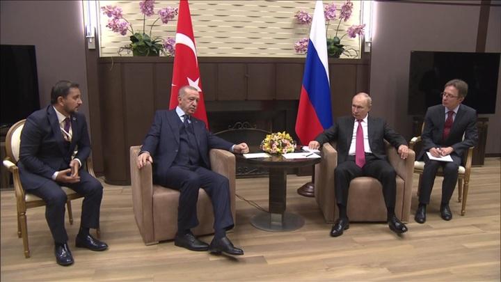 Путин проводит в Сочи встречу с президентом Турции