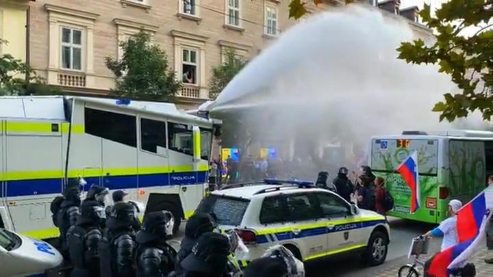 В Словении полиция разогнала шествие ковид-диссидентов