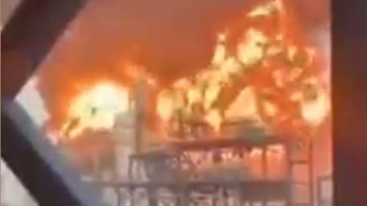 На китайском предприятии произошел крупный пожар