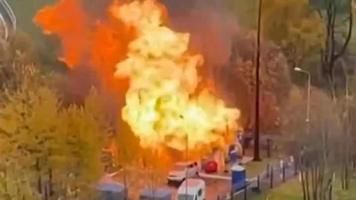 В Москве произошел пожар на газовой подстанции