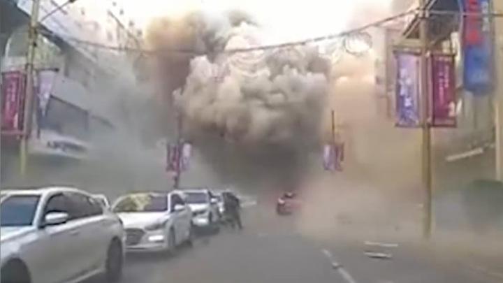 В Китае в жилом квартале прогремел мощный взрыв
