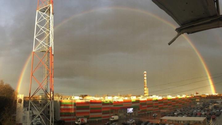 Владимирцы сняли на видео двойную радугу