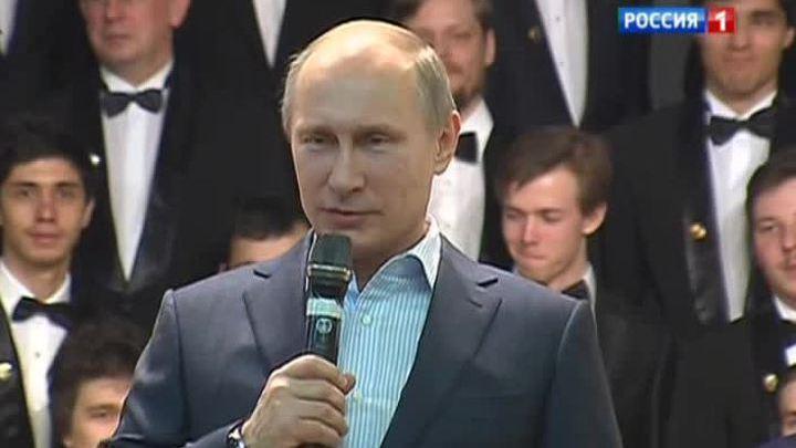 Владимир Путин сыграл на рояле для студентов МИФИ