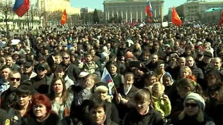 В Харькове подрались сторонники Евромайдана и пророссийски настроенные активисты