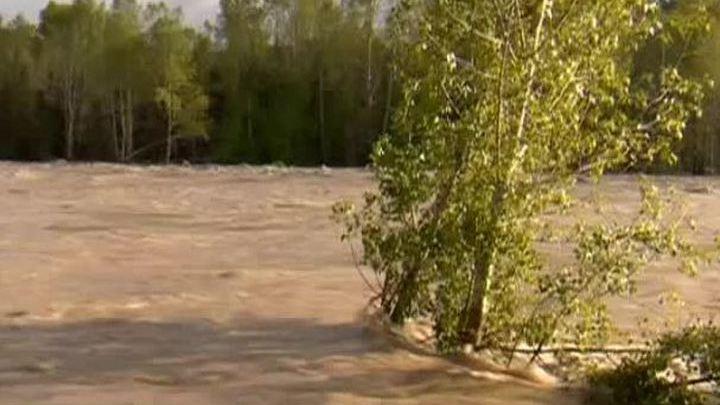 Уровень воды в реке Бия пошел на спад