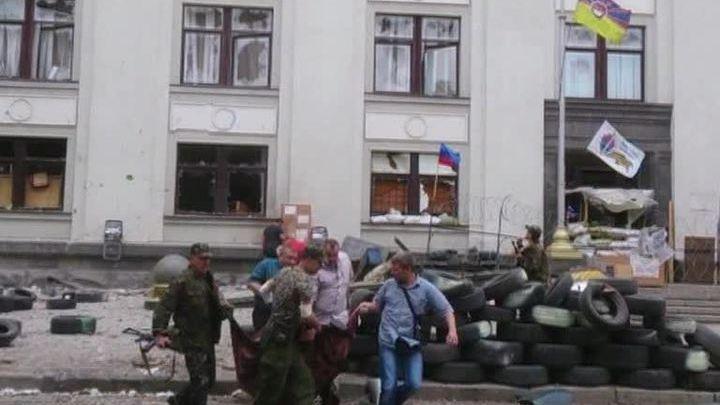 Украина. Авианалет на Луганск