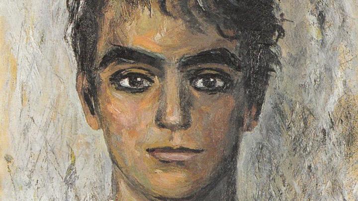 Фрагмент картины Gregorio Prieto.  Федерико  Гарсиа Лорка