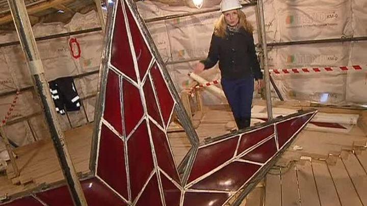Реставрация Спасской башни: дотянулись до звезды