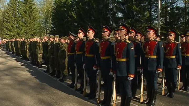 Московский Салютный дивизион приведен к Гвардейской клятве