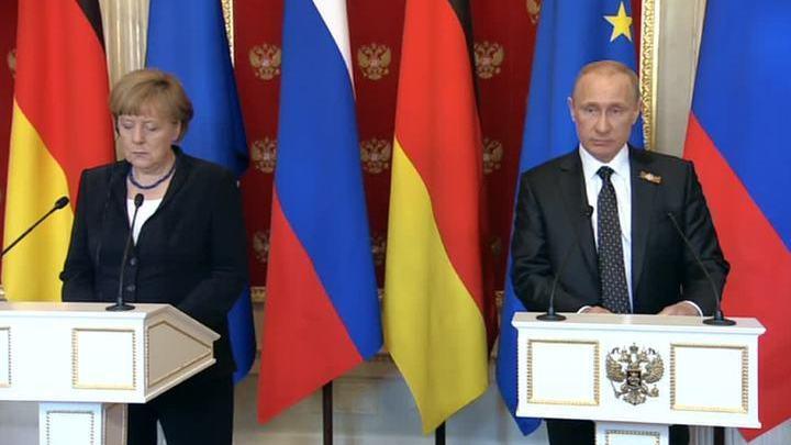 Совместная пресс-конференция Владимира Путина и Ангелы Меркель. Полная версия