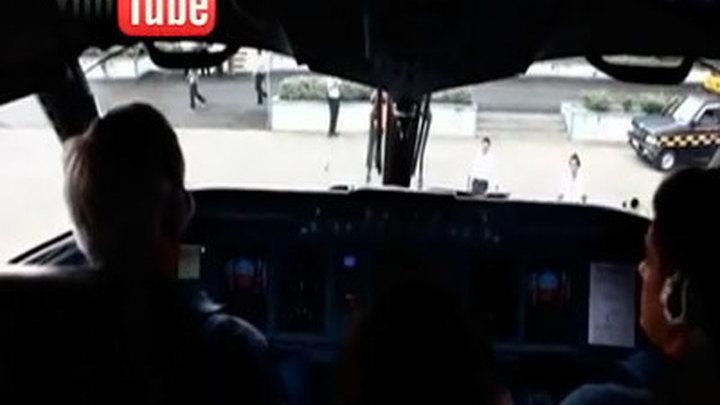 Последние видеокадры аварийного Superjet 100
