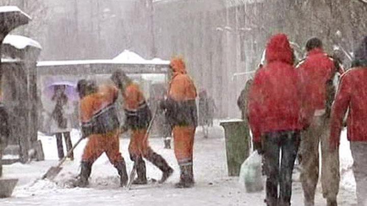 Сербия. Сильный снегопад