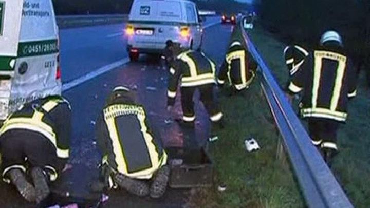 В Германии на шоссе высыпались 40 тысяч евро мелочью