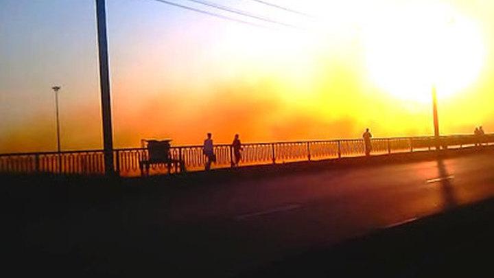 Бромовое облако над Челябинском. Видео очевидца