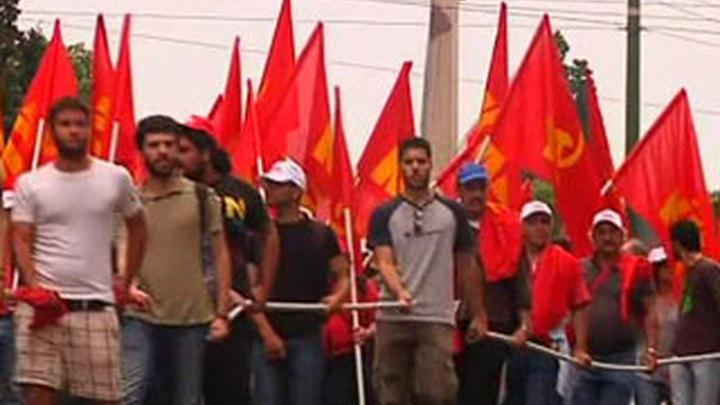 """Греция. Антикризисные протесты © """"Россия 24"""""""