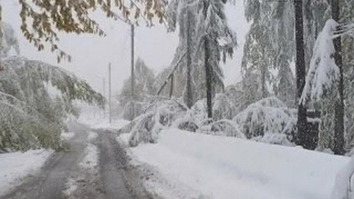 В Забайкалье снег