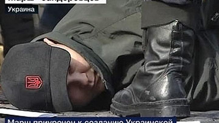 Бандеровцы устроили побоище в Киеве