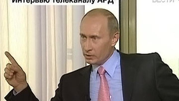 Интервью Путина телеканалу ARD