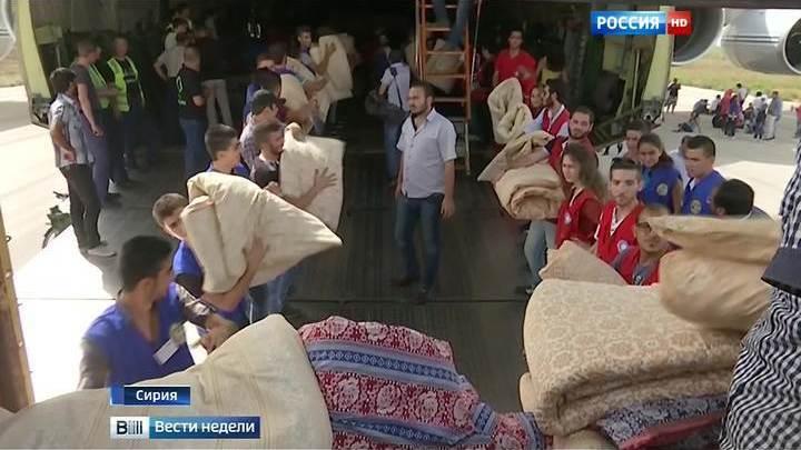 """""""Русланы"""" доставили в Сирию около ста тонн гуманитарных грузов"""
