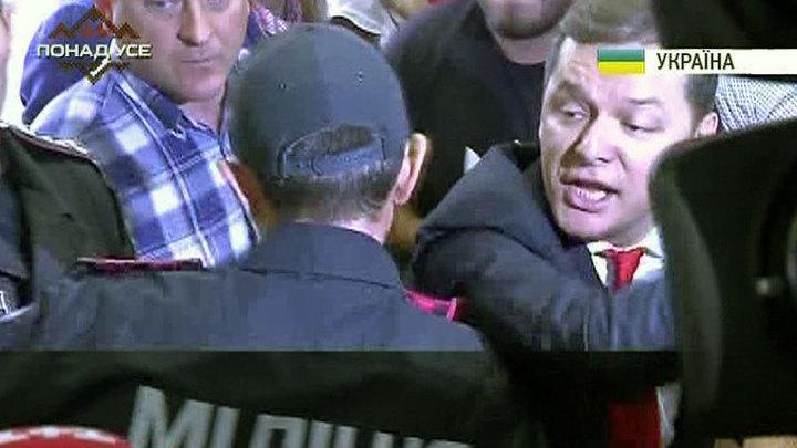 Ляшко бросился с кулаками на прокуроров из-за Мосийчука